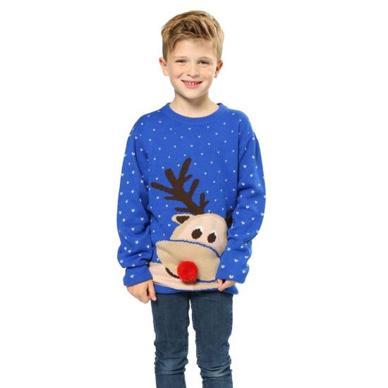 Frozen Kersttrui.Kersttrui Rendier Meisjes Sweaters Knuffels Shop Nl